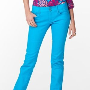 Lilly Pulitzer Worth Straight Jean (Cyan Blue)